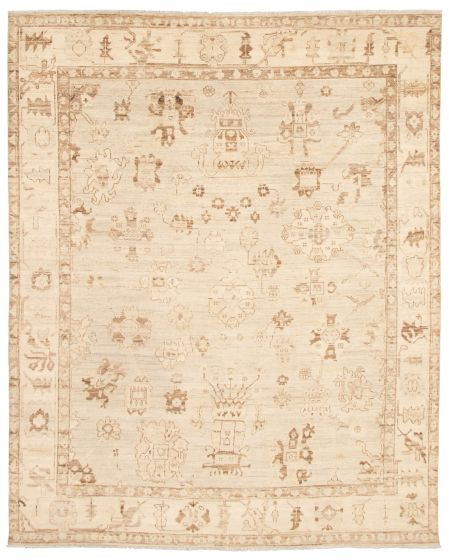 Bordered  Transitional Yellow Area rug 6x9 Pakistani Hand-knotted 338776