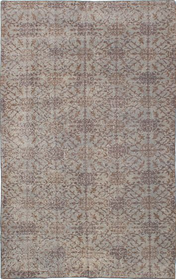 Transitional Grey Area rug 5x8 Turkish Hand-knotted 229813