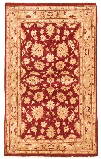 Bordered  Traditional Red Area rug 3x5 Afghan Hand-knotted 331479