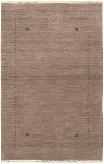 Gabbeh  Tribal Brown Area rug 3x5 Indian Hand-knotted 335965