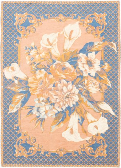 Flat-weaves & KilimsTransitional Ivory Area rug 5x8 Chinese Flat-weave 199661