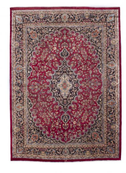 Traditional Red Area rug 9x12 Persian Hand-knotted 206453