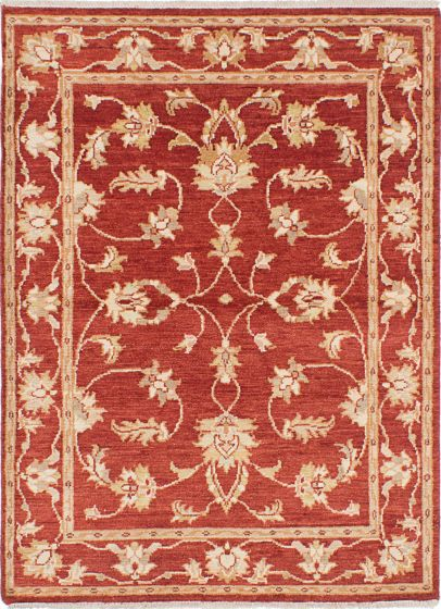 Traditional Red Area rug 3x5 Indian Hand-knotted 223921