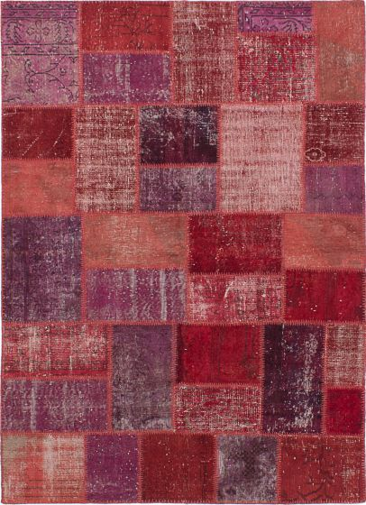 Transitional Red Area rug 5x8 Turkish Hand-knotted 231708