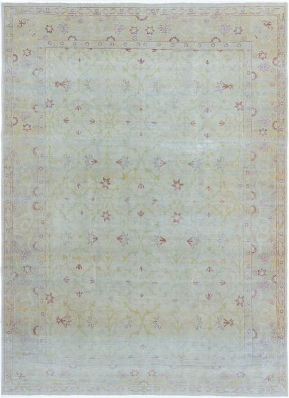 Bordered  Traditional Green Area rug 6x9 Turkish Hand-knotted 280820
