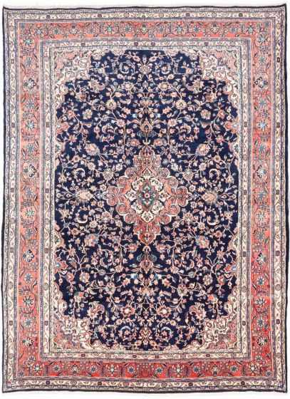 Traditional Blue Area rug 9x12 Persian Hand-knotted 203513