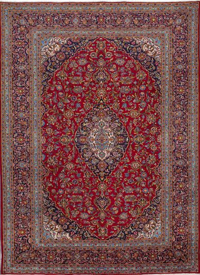 Traditional Red Area rug 9x12 Persian Hand-knotted 209588