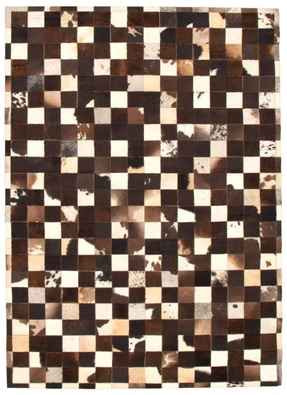 Accent  Transitional Brown Area rug 5x8 Argentina Handmade 340294