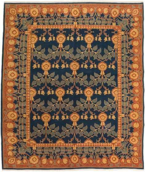 Traditional Green Area rug 6x9 Turkish Hand-knotted 191655