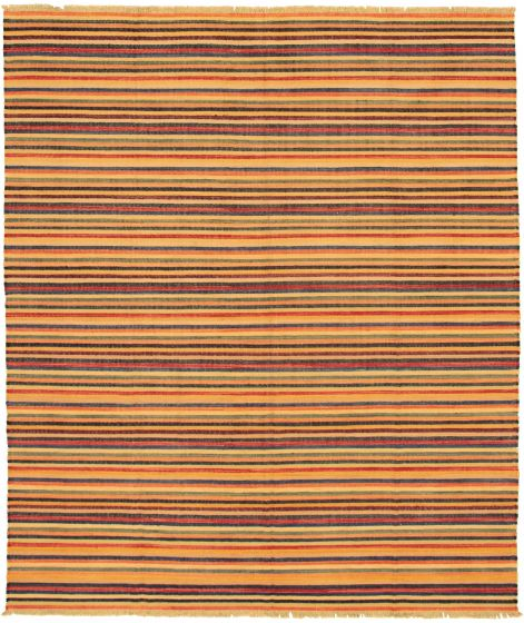 Casual  Transitional Multi Area rug 6x9 Turkish Flat-weave 335991