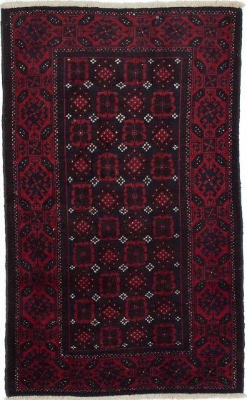 Traditional  Tribal Red Area rug 3x5 Persian Hand-knotted 210202