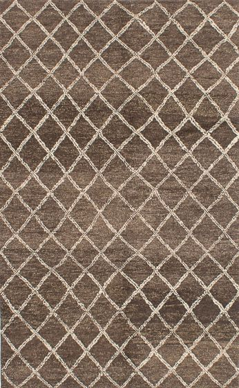 Transitional Brown Area rug 5x8 Indian Hand-knotted 219440