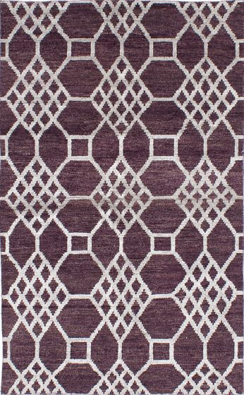 Transitional Red Area rug 5x8 Indian Hand-knotted 221946