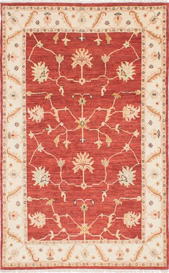 Traditional Red Area rug 3x5 Indian Hand-knotted 223820
