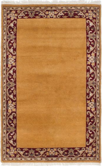 Traditional Brown Area rug 3x5 Pakistani Hand-knotted 230723