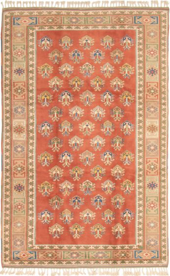 Bordered  Traditional Brown Area rug 8x10 Turkish Hand-knotted 293313