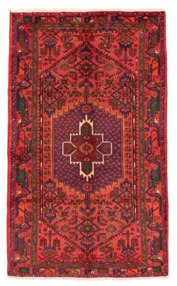 Bordered  Traditional Red Area rug 4x6 Persian Hand-knotted 358646