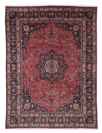 Vintage Red Area rug 9x12 Persian Hand-knotted 206565