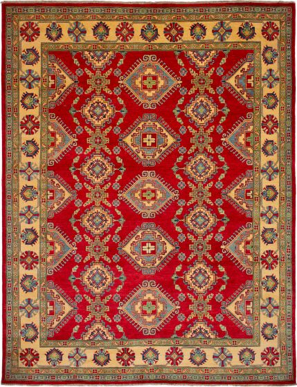 Bohemian  Geometric Red Area rug 9x12 Afghan Hand-knotted 272409