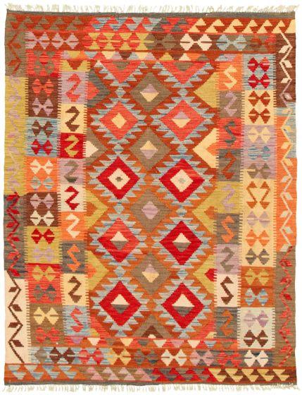 Bordered  Flat-weaves & Kilims Multi Area rug 4x6 Turkish Flat-weave 330159