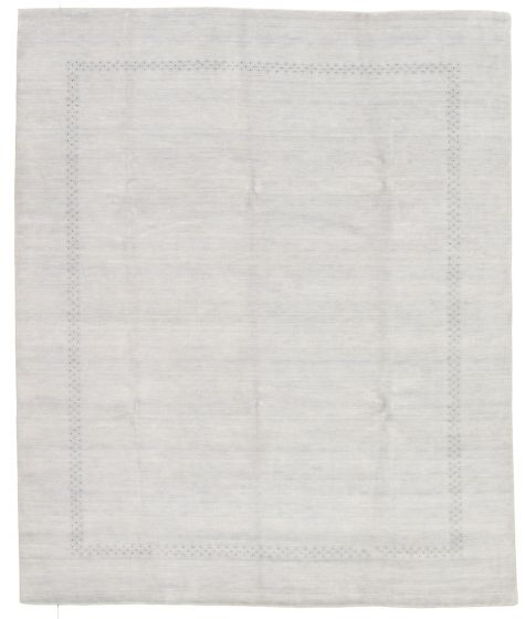 Gabbeh  Tribal Grey Area rug 6x9 Indian Hand-knotted 331248