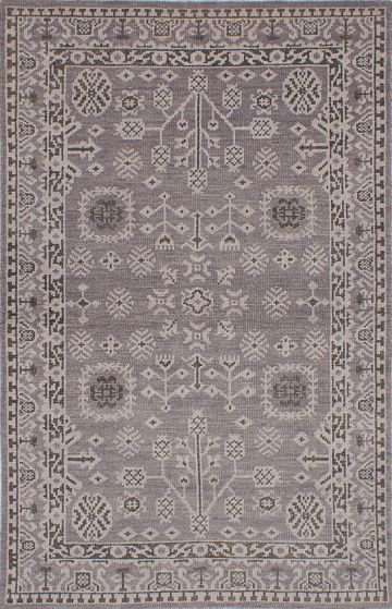 Traditional Grey Area rug 5x8 Indian Hand-knotted 222091