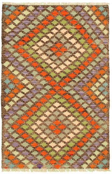 Flat-weaves & Kilims  Geometric Multi Area rug 3x5 Turkish Flat-weave 330236