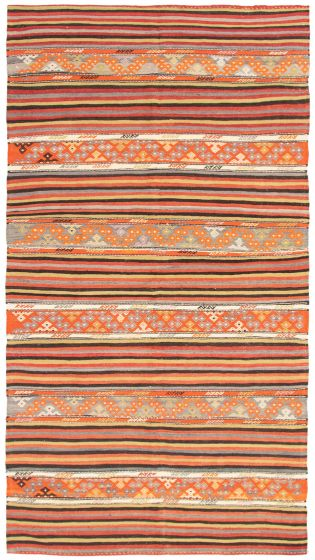 Flat-weaves & Kilims  Tribal Red Area rug Unique Turkish Flat-weave 292941