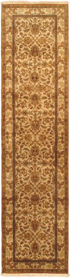 Traditional Blue Runner rug 10-ft-runner Indian Hand-knotted 31579