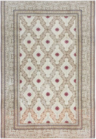 Traditional Blue Area rug 8x10 Persian Hand-knotted 190419