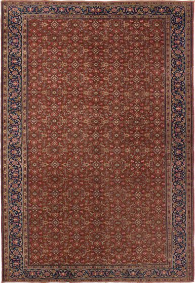 Bordered  Traditional Brown Area rug 6x9 Turkish Hand-knotted 279761