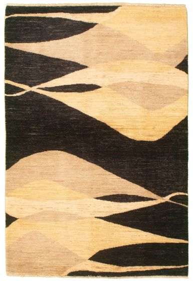Casual  Transitional Black Area rug 3x5 Pakistani Hand-knotted 330449