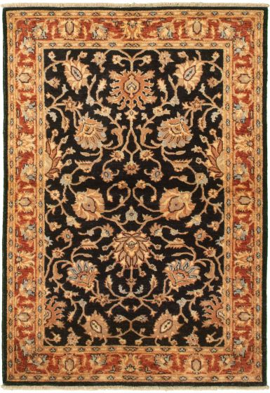 Bordered  Traditional Blue Area rug 3x5 Afghan Hand-knotted 335984