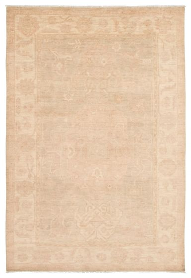 Bordered  Transitional Grey Area rug 5x8 Pakistani Hand-knotted 339028