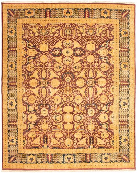 Bordered  Traditional Red Area rug 12x15 Pakistani Hand-knotted 339183