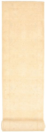 Bordered  Traditional Ivory Runner rug 26-ft-runner Pakistani Hand-knotted 319956