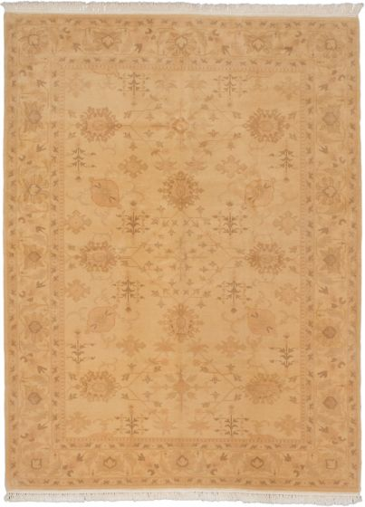 Traditional Yellow Area rug 9x12 Turkish Hand-knotted 191388