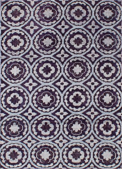 Transitional Purple Area rug 4x6 Indian Hand-knotted 241426