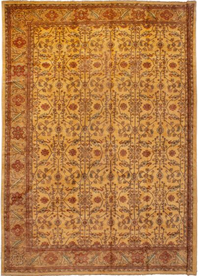 Bohemian  Traditional Ivory Area rug 12x15 Afghan Hand-knotted 271125