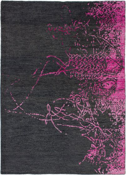 Casual  Contemporary Pink Area rug 5x8 Indian Hand-knotted 271790