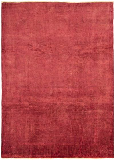 Overdyed  Transitional Red Area rug 9x12 Afghan Hand-knotted 294082