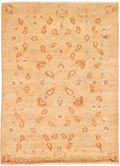 Floral  Transitional Ivory Area rug 3x5 Pakistani Hand-knotted 338999