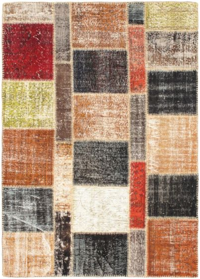 Transitional Brown Area rug 6 x 7 Turkish Handmade 56342