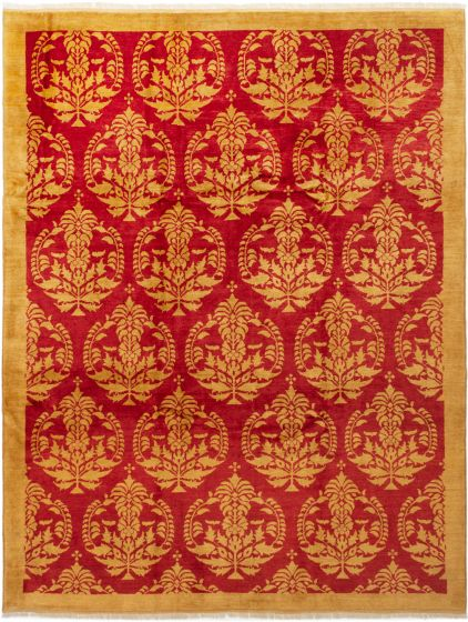 Traditional Red Area rug 8x10 Afghan Hand-knotted 280332