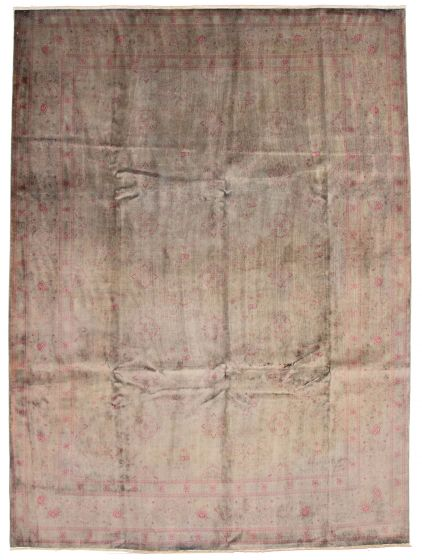 Bordered  Transitional Grey Area rug 9x12 Pakistani Hand-knotted 337547