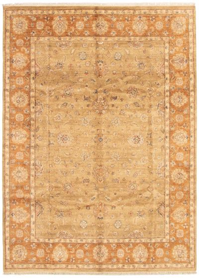 Traditional Ivory Area rug 9x12 Indian Hand-knotted 164721