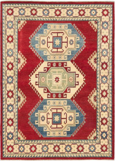 Traditional Red Area rug 5x8 Afghan Hand-knotted 185581