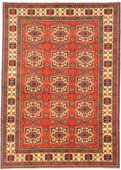 Tribal Brown Area rug 6x9 Afghan Hand-knotted 202843