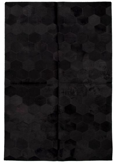 Accent  Transitional Black Area rug 5x8 Argentina Handmade 331704