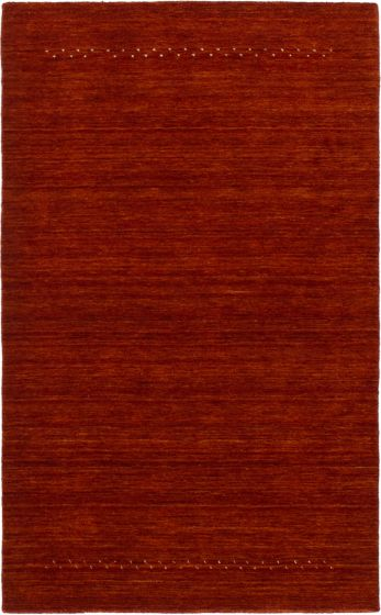 Contemporary  Solid Orange Area rug 3x5 Indian Hand-knotted 293086